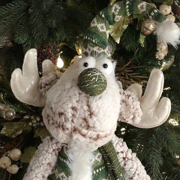 Holiday Christmas Moose Plush Holiday Sitting Poshmark
